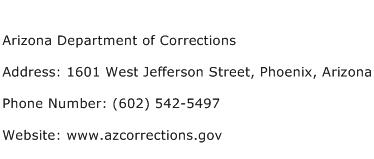 Arizona Department of Corrections Address Contact Number