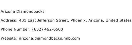 Arizona Diamondbacks Address Contact Number