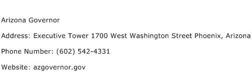 Arizona Governor Address Contact Number