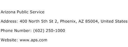 Arizona Public Service Address Contact Number