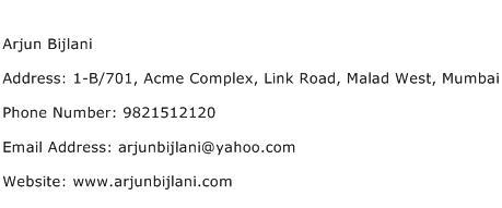 Arjun Bijlani Address Contact Number