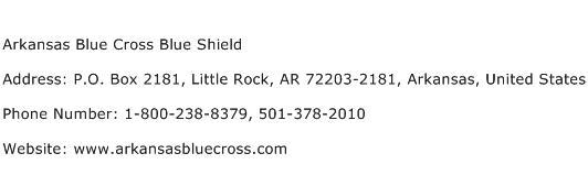 Arkansas Blue Cross Blue Shield Address Contact Number