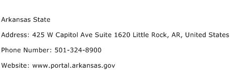 Arkansas State Address Contact Number