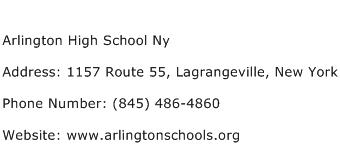 Arlington High School Ny Address Contact Number