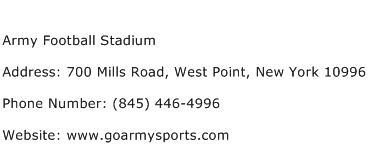 Army Football Stadium Address Contact Number