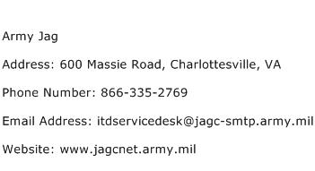 Army Jag Address Contact Number