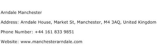 Arndale Manchester Address Contact Number