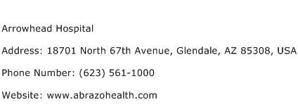 Arrowhead Hospital Address Contact Number