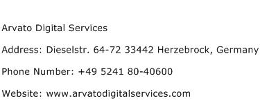 Arvato Digital Services Address Contact Number