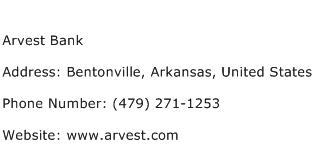 Arvest Bank Address Contact Number