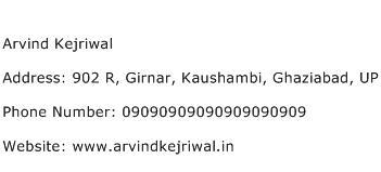 Arvind Kejriwal Address Contact Number