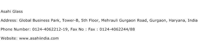 Asahi Glass Address Contact Number