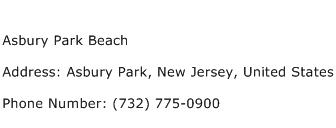 Asbury Park Beach Address Contact Number