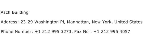 Asch Building Address Contact Number