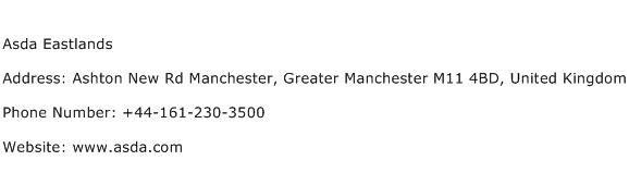 Asda Eastlands Address Contact Number