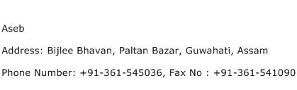 Aseb Address Contact Number