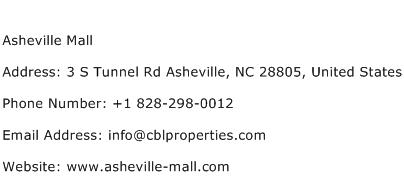 Asheville Mall Address Contact Number