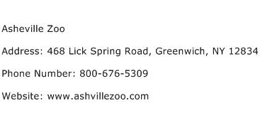 Asheville Zoo Address Contact Number