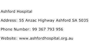 Ashford Hospital Address Contact Number