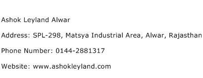 Ashok Leyland Alwar Address Contact Number