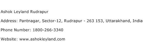 Ashok Leyland Rudrapur Address Contact Number