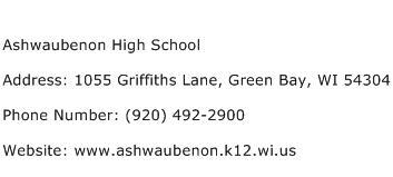 Ashwaubenon High School Address Contact Number