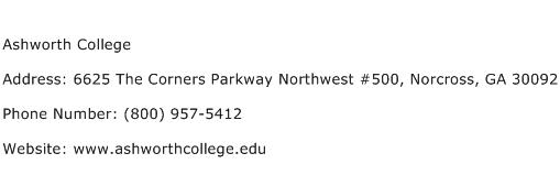Ashworth College Address Contact Number