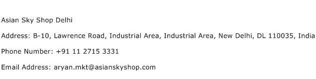 Asian Sky Shop Delhi Address Contact Number