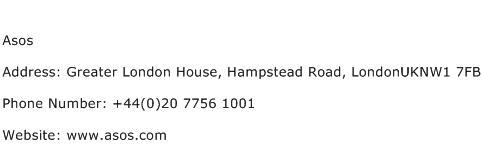 Asos Address Contact Number