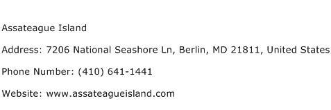 Assateague Island Address Contact Number