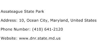 Assateague State Park Address Contact Number