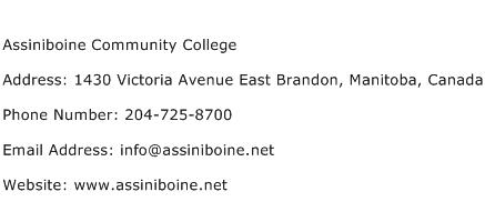 Assiniboine Community College Address Contact Number