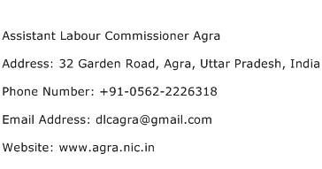 Assistant Labour Commissioner Agra Address Contact Number
