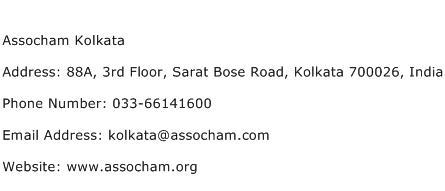 Assocham Kolkata Address Contact Number