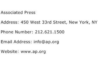 Associated Press Address Contact Number