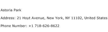 Astoria Park Address Contact Number