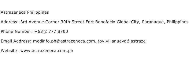 Astrazeneca Philippines Address Contact Number
