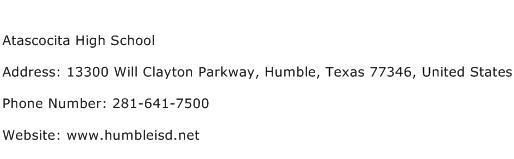 Atascocita High School Address Contact Number