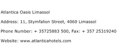 Atlantica Oasis Limassol Address Contact Number