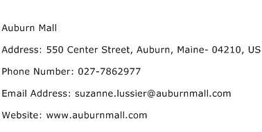 Auburn Mall Address Contact Number