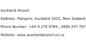 Auckland Airport Address Contact Number