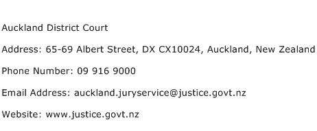 Auckland District Court Address Contact Number