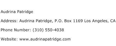 Audrina Patridge Address Contact Number