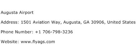 Augusta Airport Address Contact Number