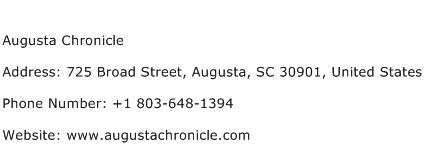 Augusta Chronicle Address Contact Number