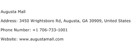 Augusta Mall Address Contact Number