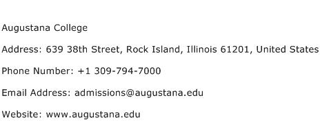 Augustana College Address Contact Number