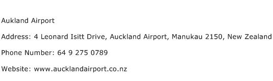 Aukland Airport Address Contact Number