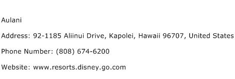 Aulani Address Contact Number