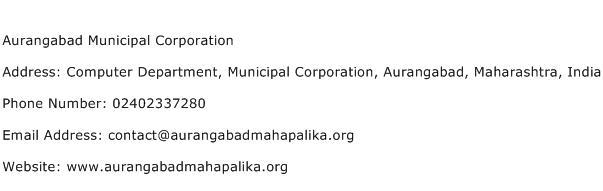 Aurangabad Municipal Corporation Address Contact Number